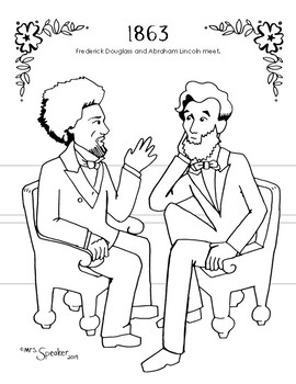 1863 Frederick Douglass Abraham Lincoln Coloring Page Frederick Douglass Coloring Pages Historical Photos