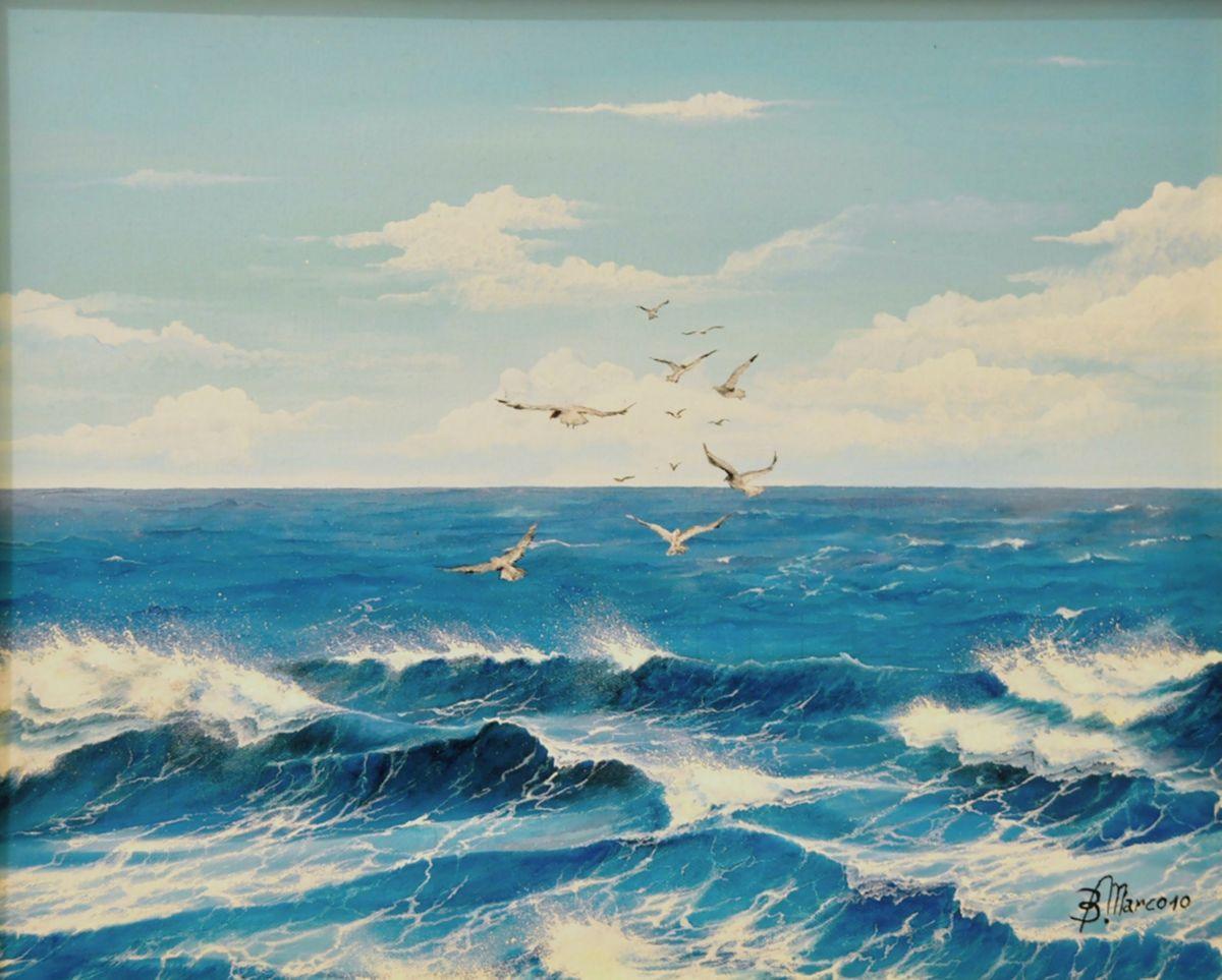 risultati immagini per pittura a olio paesaggi marini