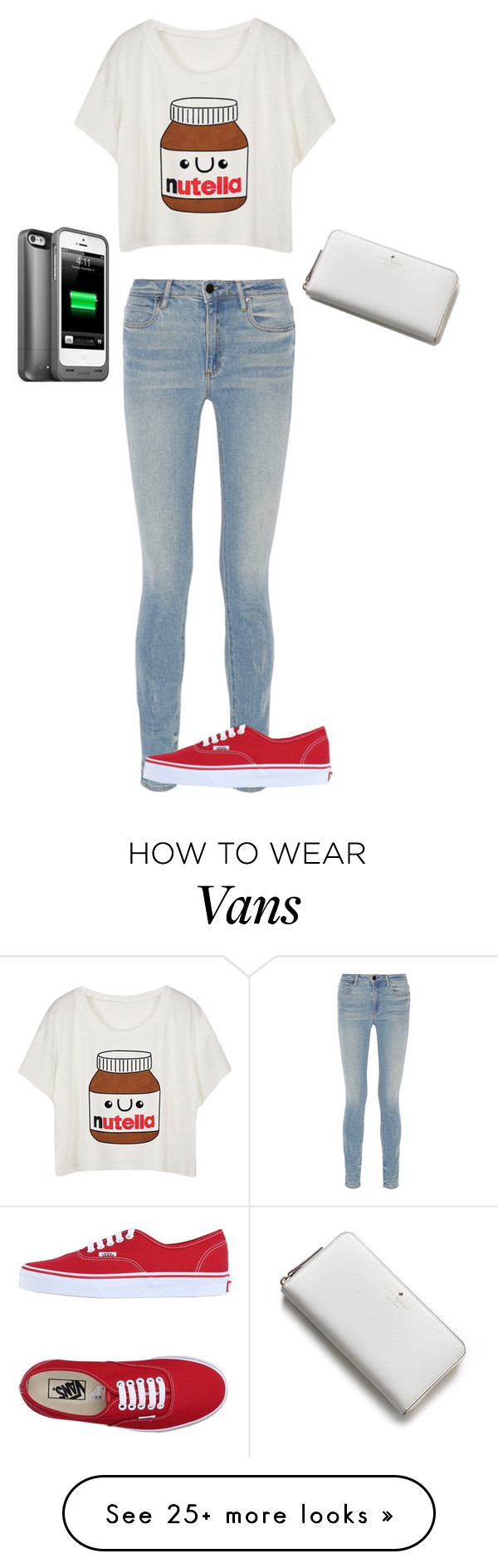"""""""Nutella"""" by summerloveforever335 on Polyvore featuring Alexander Wang, Vans, Kate Spade and Mophie"""