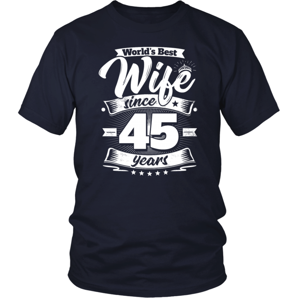 Wedding Day 45th Anniversary Gift Wife Spouse Tshirt