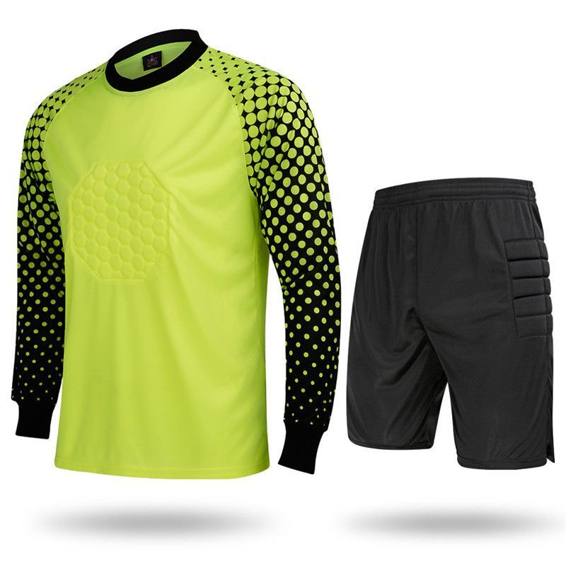 Football Jerseys Doorkeepers Goalkeepers Jersey Set Long-sleeve Top Trousers  Mens Clothing Shirt kits suits Costumes Dress L401 37089e1e1