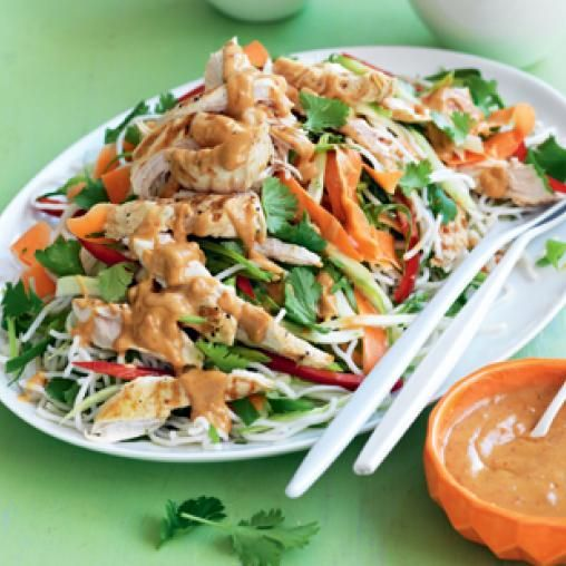 Grilled Chicken And Noodle Salad With Satay Dressing Australian