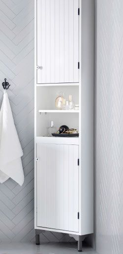 Enjoyable Silveran White Corner Cabinet Ikea Bath Room Ideas Home Interior And Landscaping Mentranervesignezvosmurscom