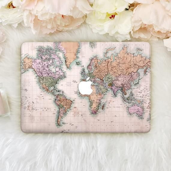 World Map Macbook Pro 16 Case 13 Inch Macbook Air Case Macbook | Etsy