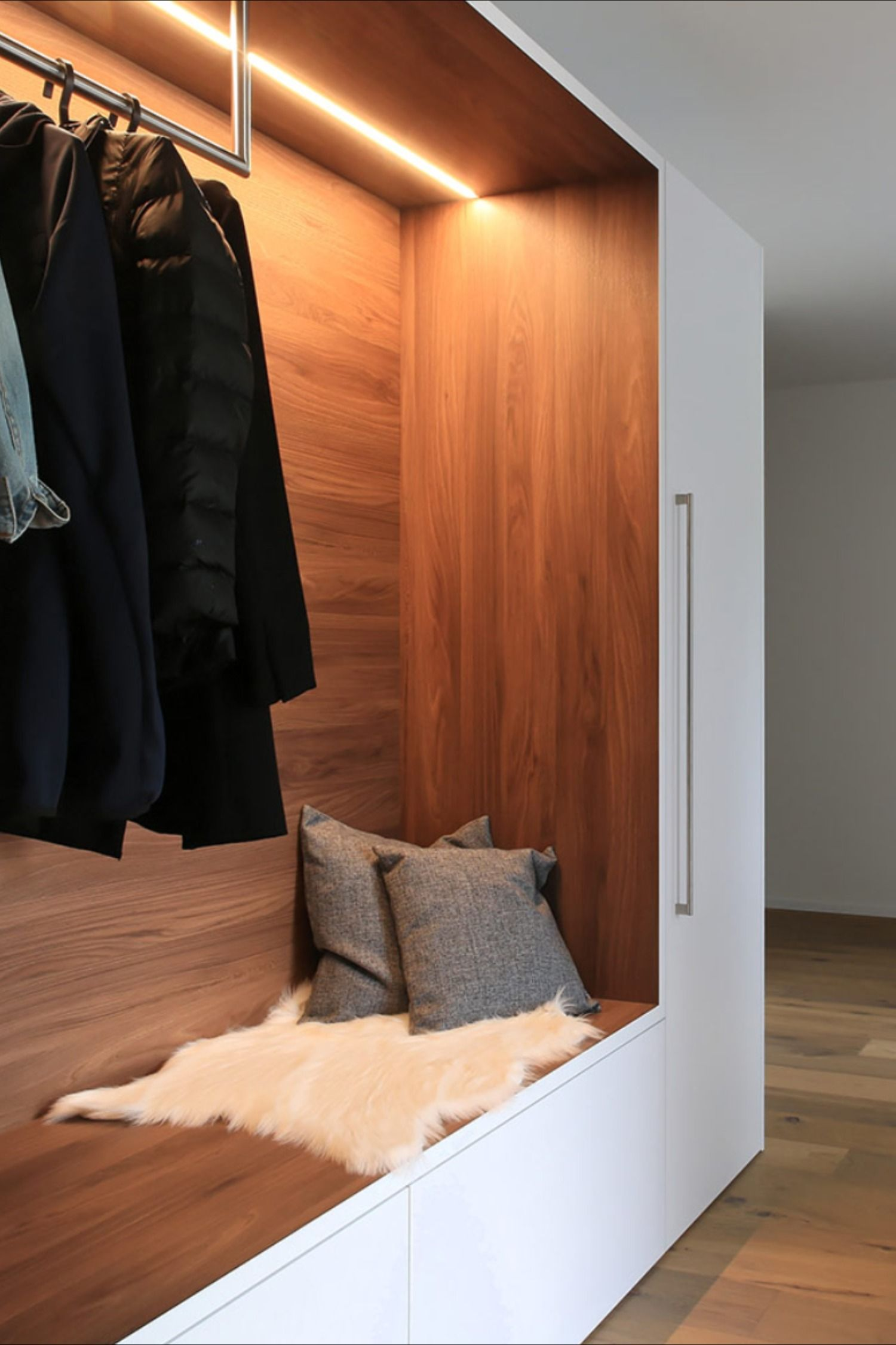Garderobe Garderobe Mit Sitzbank Einbauschrank Design Garderoben Eingangsbereich