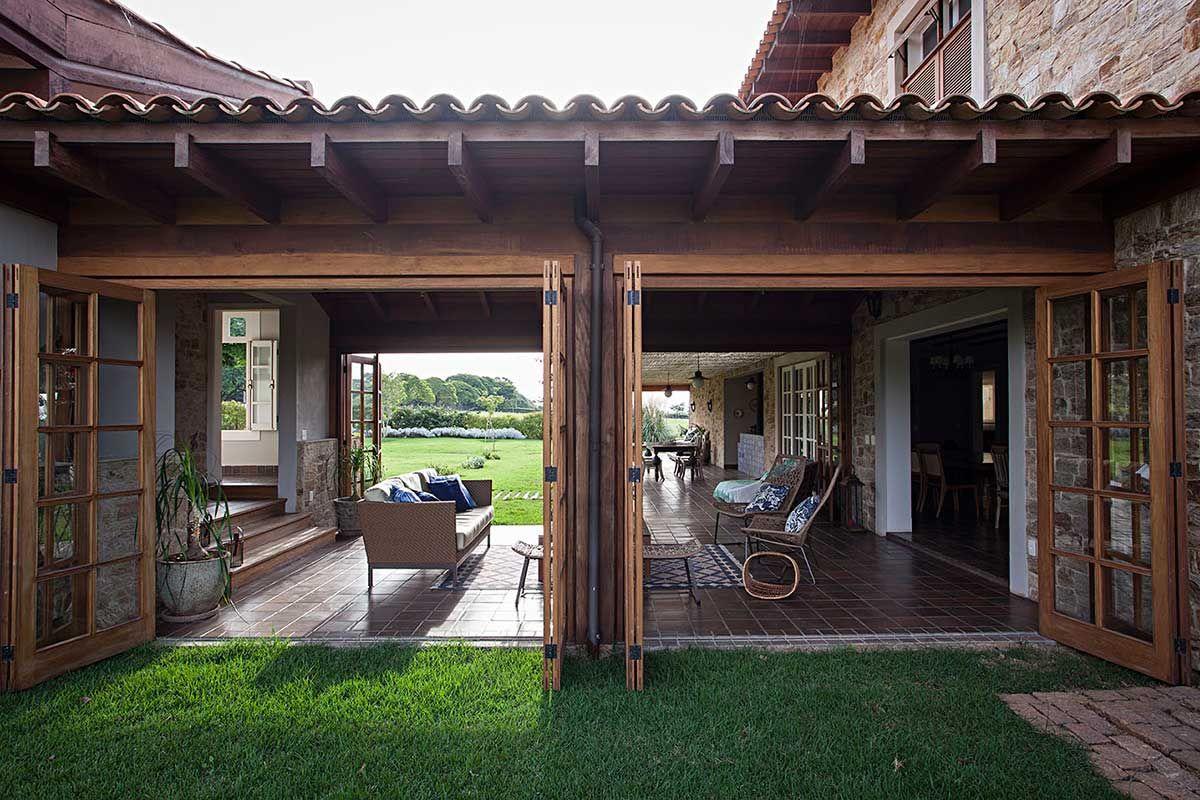 Casa de Campo Rstica em 2019  Interiores  Varanda casa de campo Casas de hspedes e Casas de