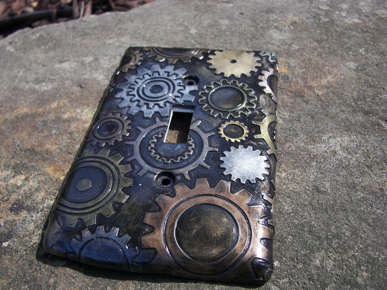 Copriprese Fai Da Te steampunk steam punk light switch plate switchplate cover