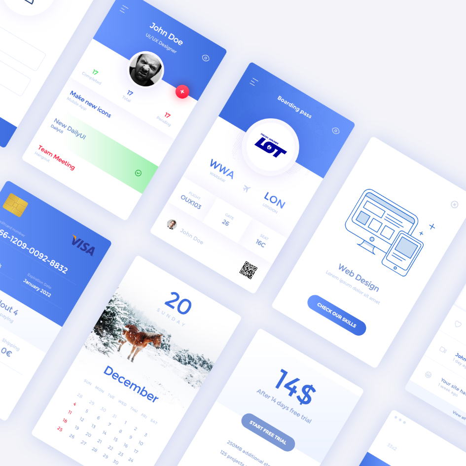 Daily UI Elements a Free UI Kit Freebies 404 Page Buttons ...