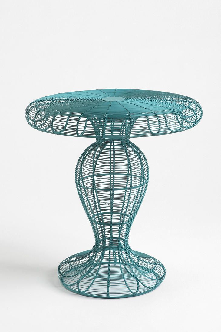 Coil Side Table (love the idea of teal and yellow with neutral grey ...