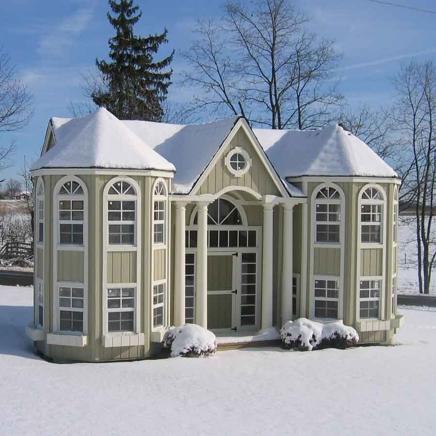 Terrific Amish Made Grand Portico Mansion Playhouse W Floor Kit Download Free Architecture Designs Grimeyleaguecom