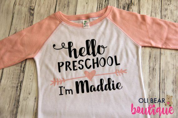 Personalized Back to School Shirt | First Day of Preschool Shirt | First Day of Kindergarten | First Day of School | 1st Day of School Shirt #firstdayofschooloutfits