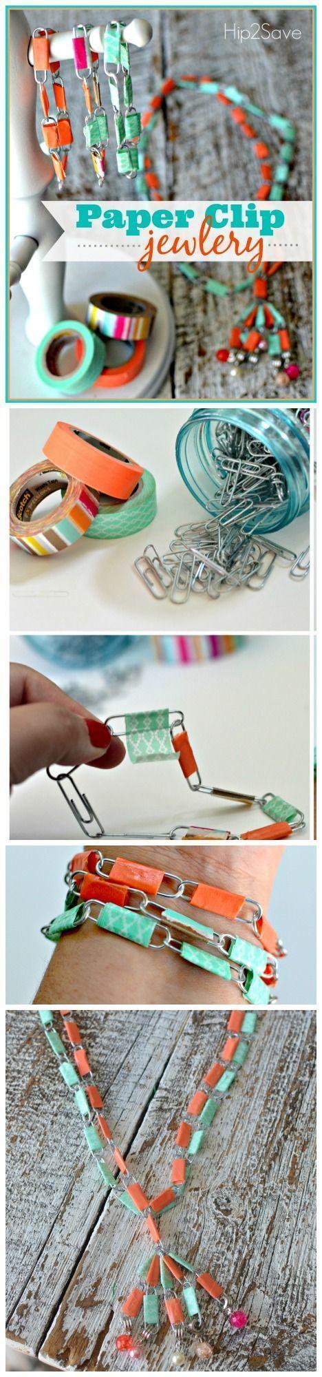 Paper clip jewelry fun summer break craft paper clip activities