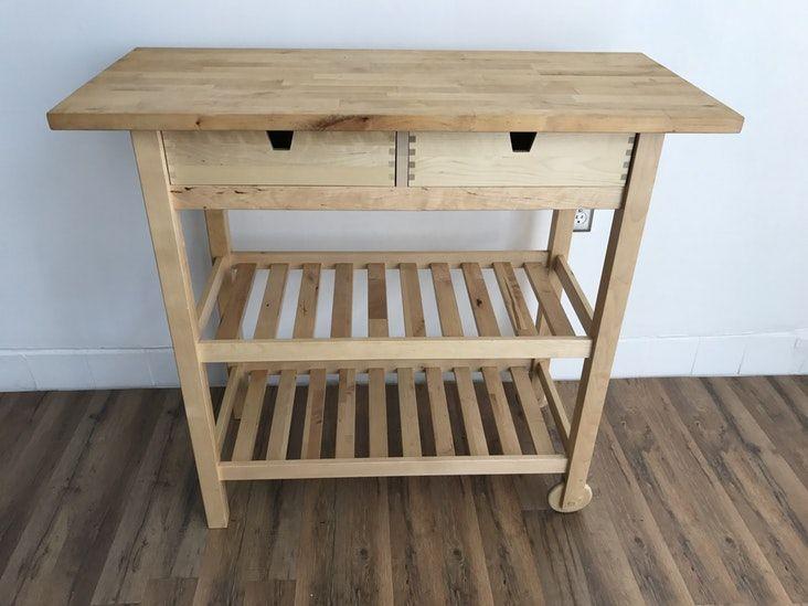 Ikea Birch Credenza : Ikea fÖrhÖja kitchen cart birch inspirational revivals credenza