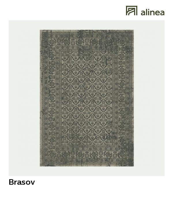 Brasov Tapis Vintage Gris Fonce Plusieurs Tailles Disponibles