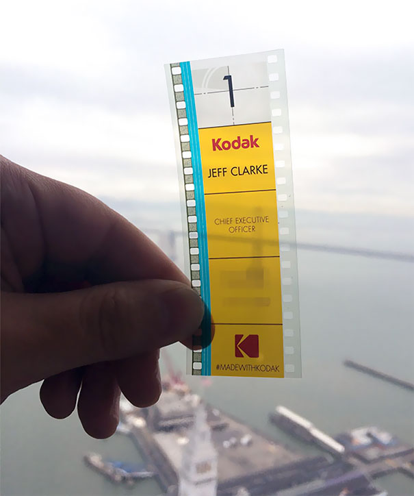 Kodak S Ceo Uses 35mm Film As A Business Card In 2020 Transparent Business Cards Business Cards Creative Manicurist Business Cards
