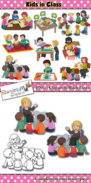 kids at work in school clip art clip art for teachers pinterest