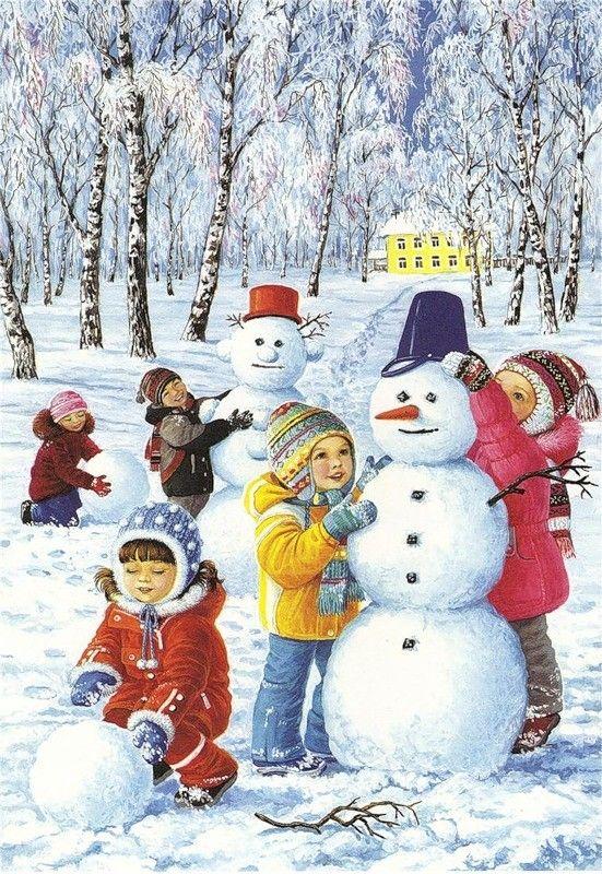 Mignonnes illustrations serie l page 11 christmas art bastelideen winter winter schneemann - Bastelideen winter ...