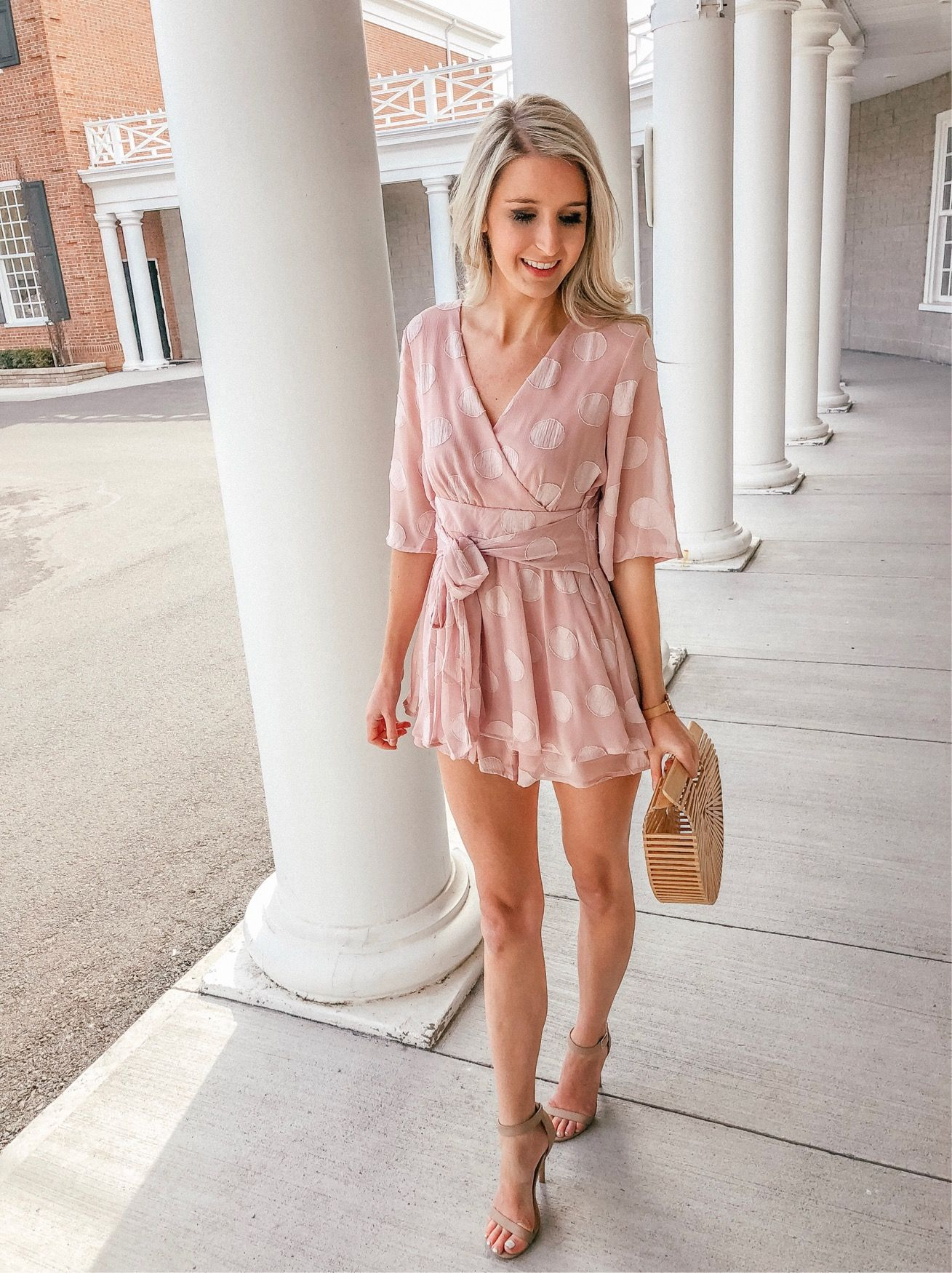 Instagram Roundup Prada Pearls Spring Dresses Classy Fashion Summer Romper Outfit [ 1750 x 1309 Pixel ]
