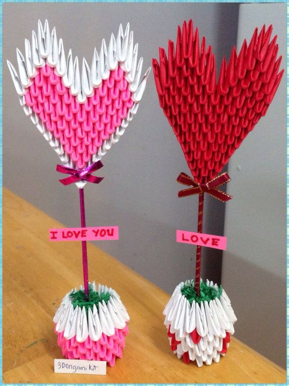 Heart Vase 3d Origami Valentines Day Paper By OrigamiPhiLong