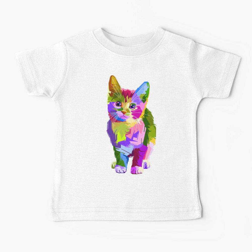 Get My Art Printed On Awesome Products Support Me At Redbubble Rbandme Https Www Redbubble Com I Baby T Shirt Colorful Cute In 2020 Kids Tshirts Pop Art Cat Kids