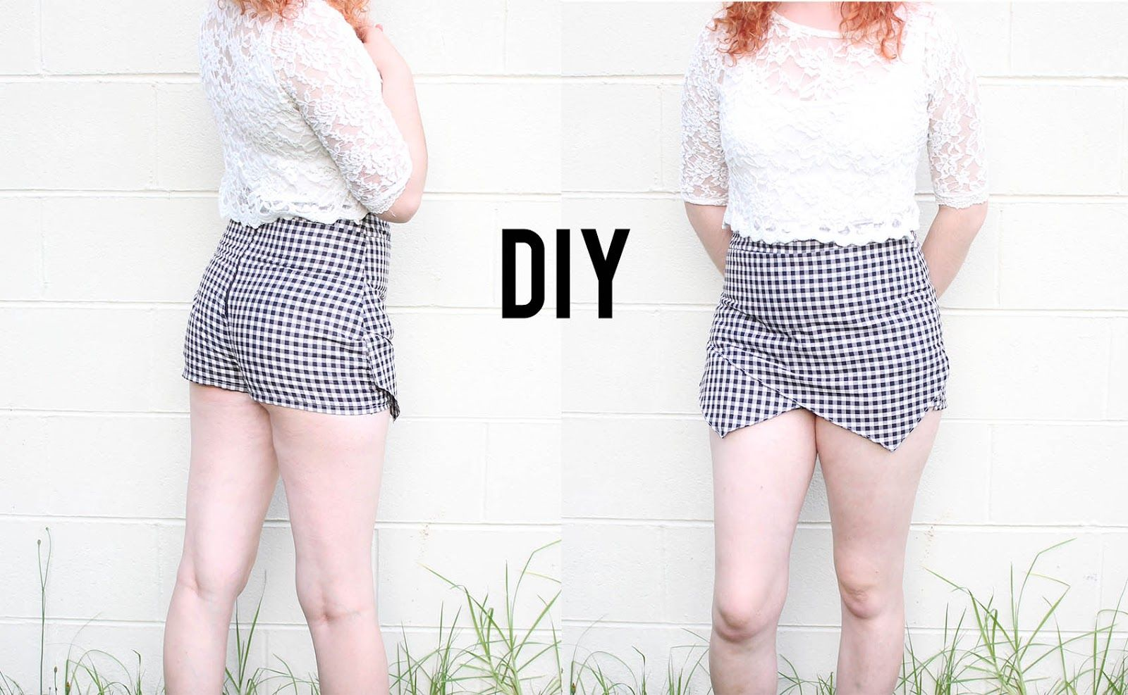 The Pineneedle Collective: DIY Asymmetrical Hem Skirt/Skorts | Make Thrift Bu...