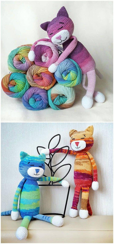 Large Ami Cat Crochet Pattern | Yarn | Pinterest | Tutoriales