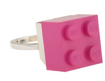 Dee & Ricky x M & M Interchangeable LEGO Ring: I don't know that I would actually sport a lego piece on my finger but I like the idea behind it.