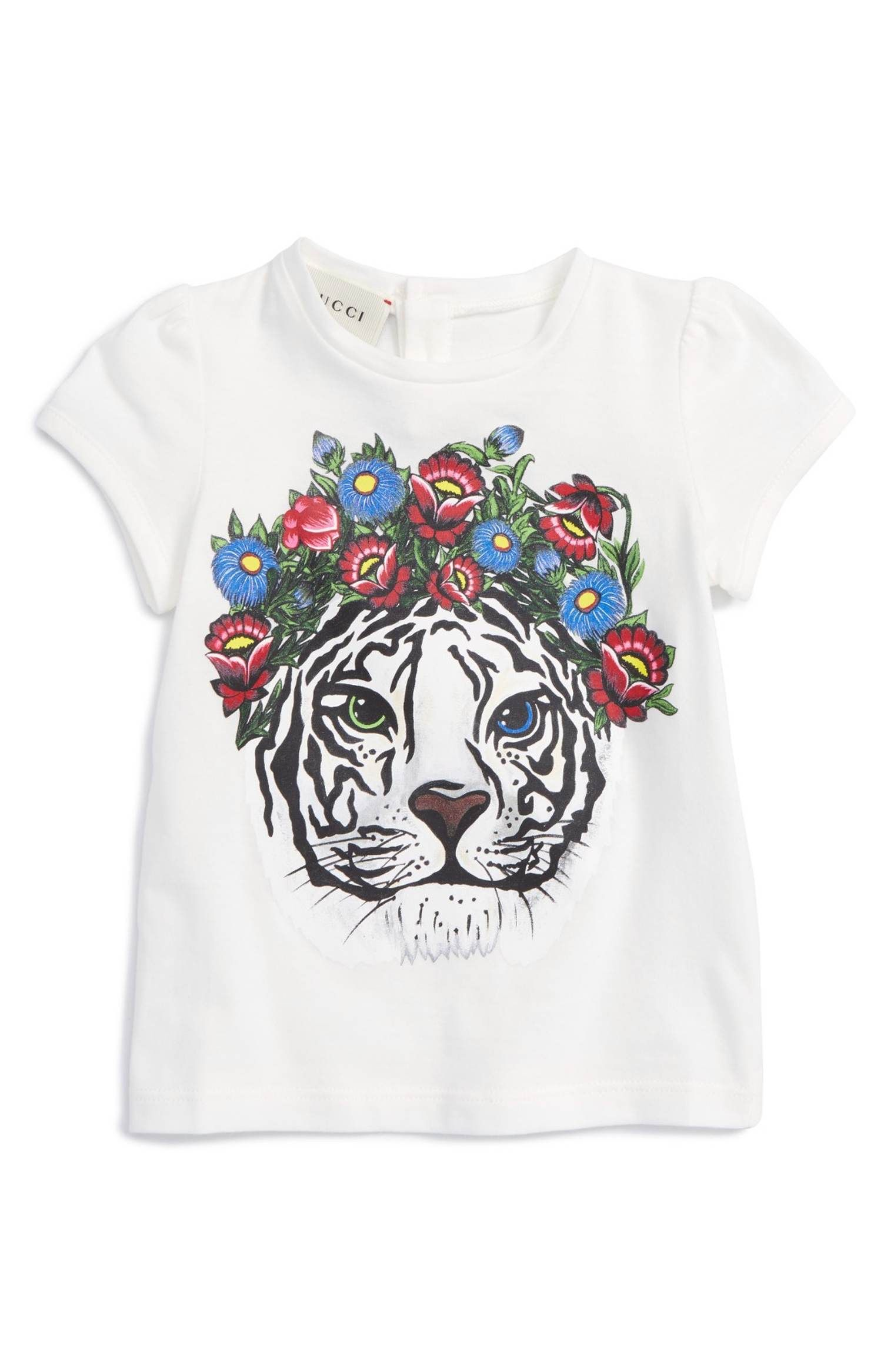 a7ef72e14 Main Image - Gucci Tiger Graphic Tee (Baby Girls) | Fendi and Gucci ...