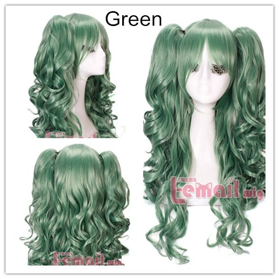 (32.94$)  Buy here  - 68cm Long Green Lolita Synthetic Hair Wavy Curly Clip On Ponytail Cosplay Wig