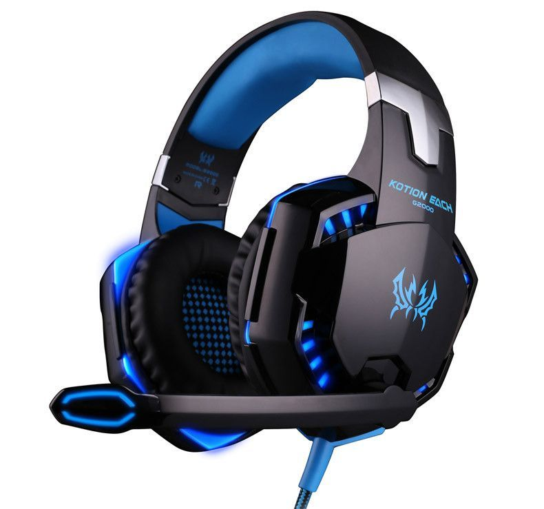 KOTION EACH G2000 Gaming Headset Wired earphone Game headphone with microphone led noise canceling headphones for computer pc