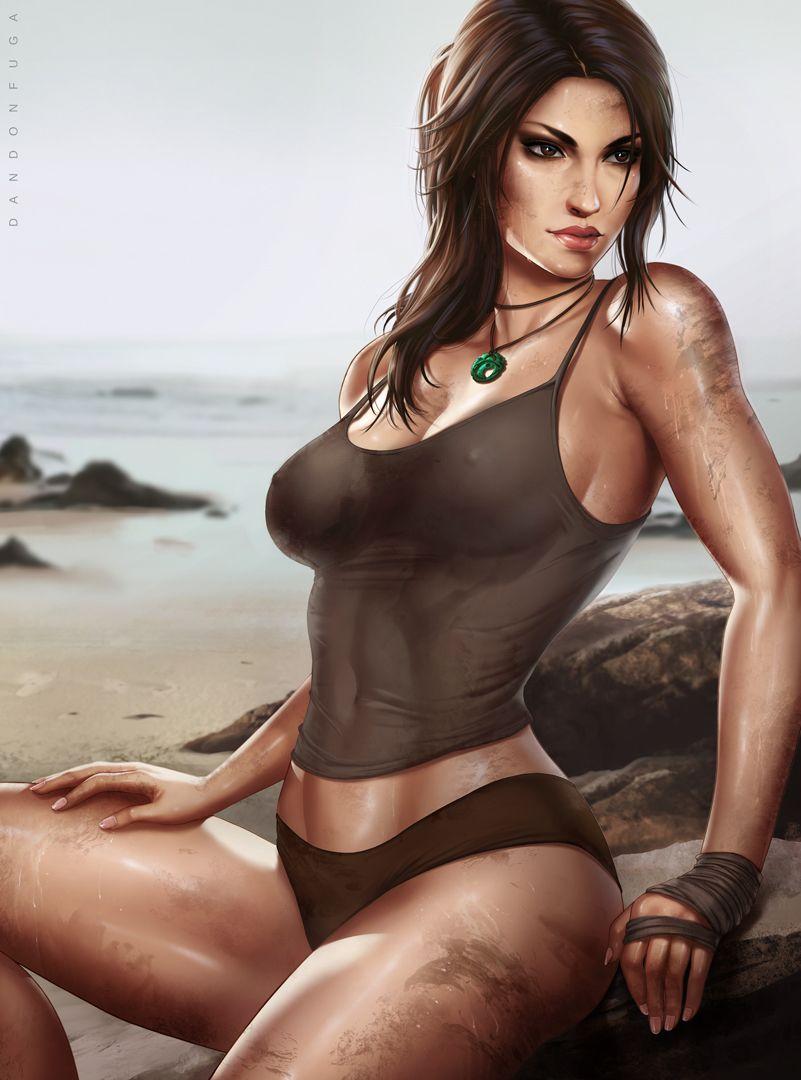 bikini Lara tan lines  croft