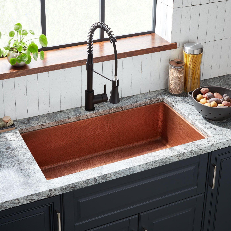 36 Hammered Copper Undermount Sink In 2021 Copper Undermount Sink Sink Copper Kitchen Sink Farmhouse