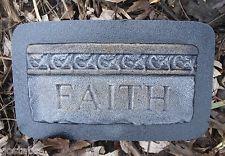 plastic old world faith plaque mold plaster concrete mould elegant!