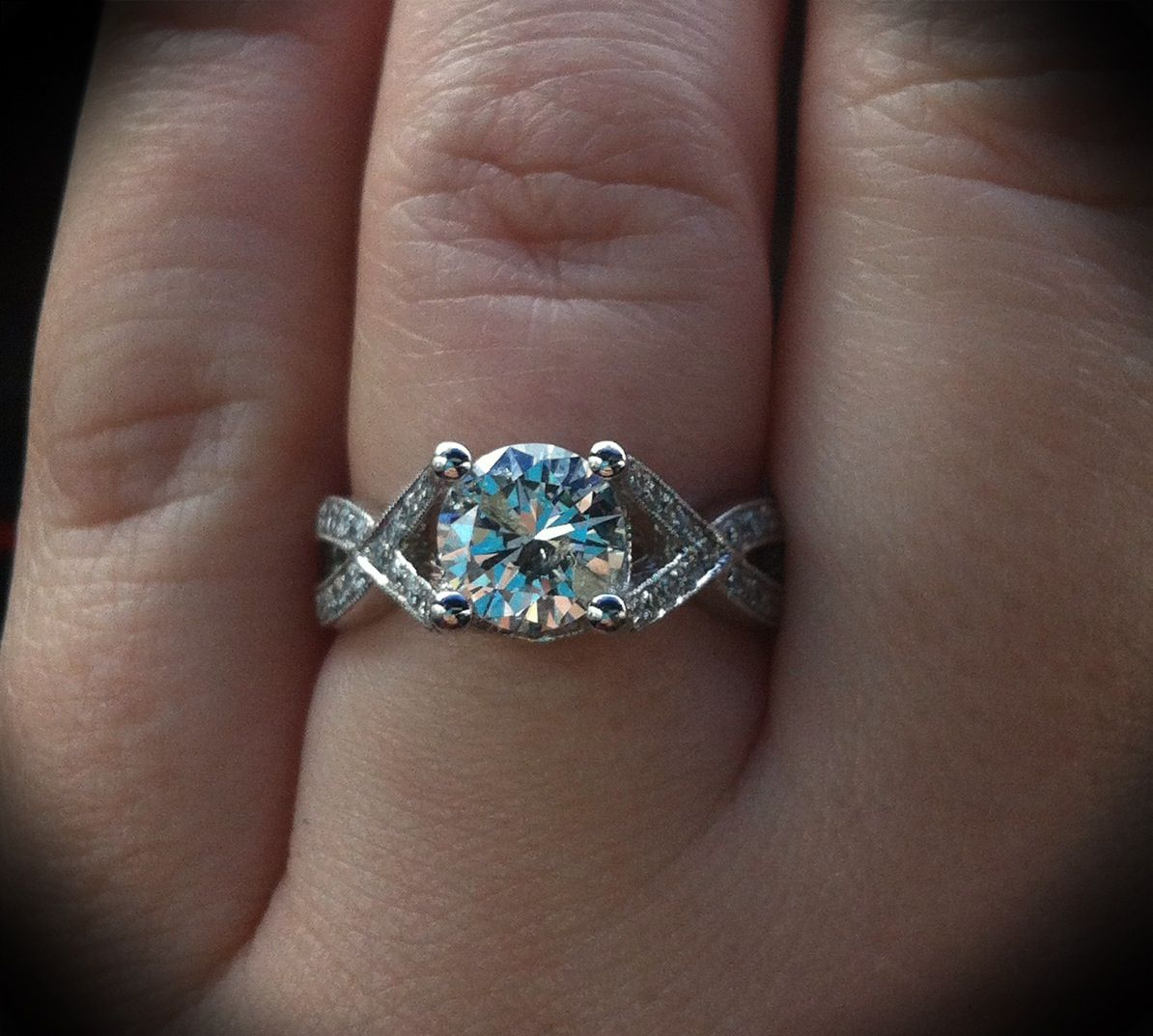 Engagement ring ) Love my Tacori replica ring from Harzin