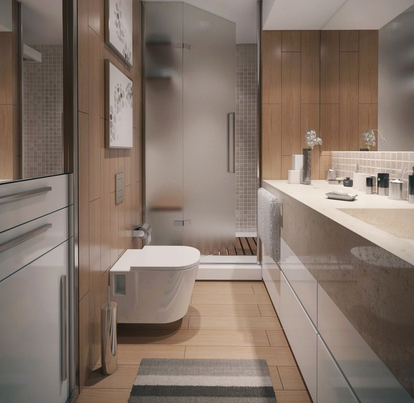 fetching contemporary bathroom design | Three Modern Apartments: A Trio of Stunning Spaces | Bath ...