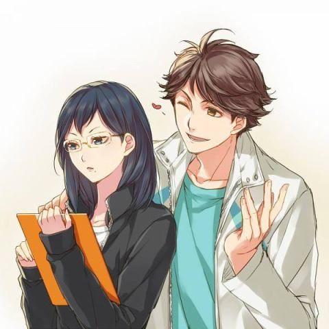 Kiyoko Shimizu Oikawa Toru Parejas De Anime Manga Anime Musica Parejas De Anime