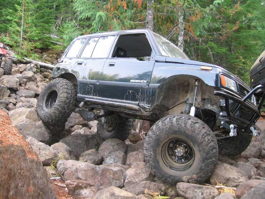 Trail Tough trail slayer Suzuki Sidekick | Autos 4x4 | Pinterest ...