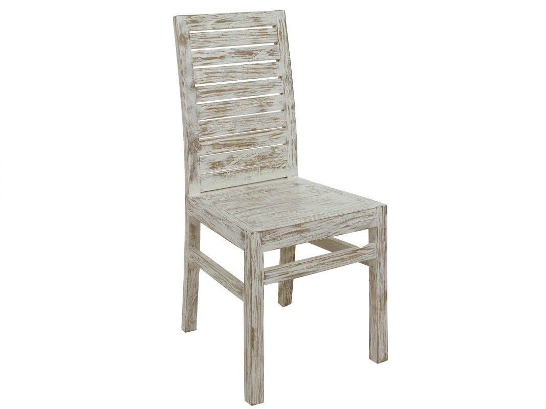 sillas vintage madera blancas