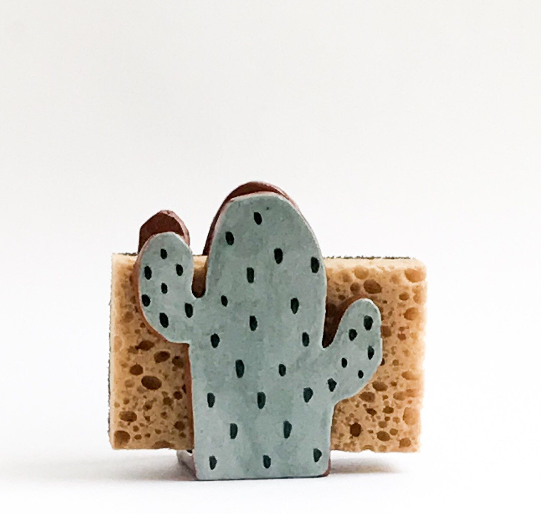 Cactus Gift-Sponge Holder-Napkin Holder-Ceramics And Pottery