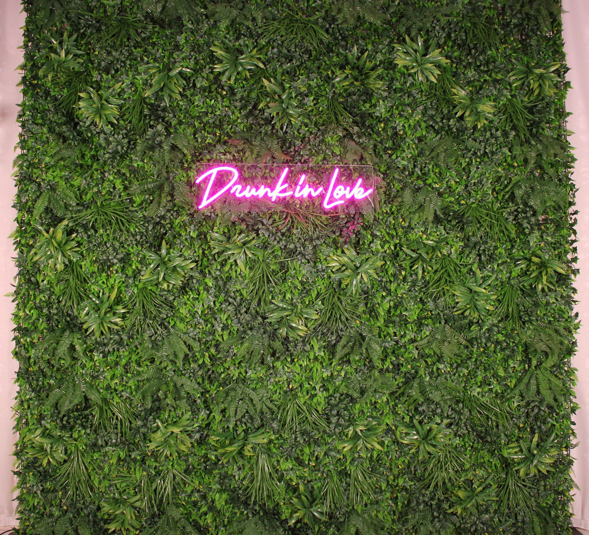 Grass Backdrop And Neon Sign Grass Backdrops Neon Signs Backdrops