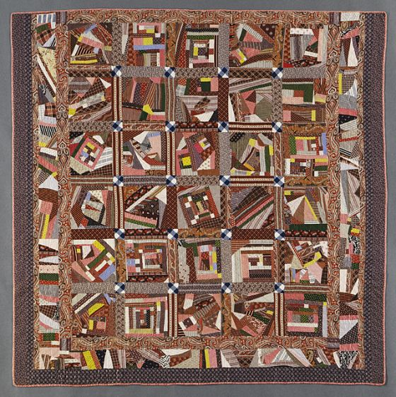 'Contained' Crazy Quilt | LACMA Collections
