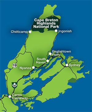 Cape Breton map Nova Scotia Pinterest Cape breton Cape and