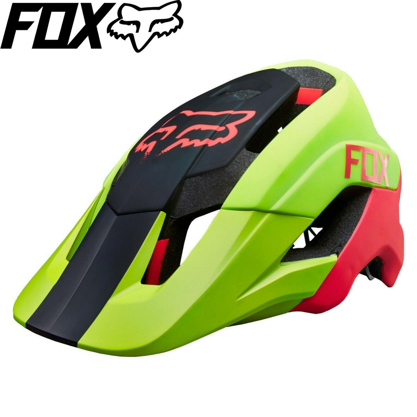 Fox Metah Graphics Mtb Bike Helmet Fluro Yellow Sizes S M L Xl