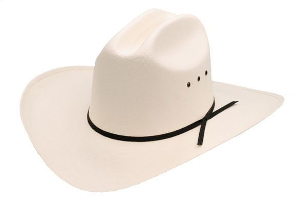 1b5dcd02a941c Low Crown Straw Cattleman Cowboy Hat - Natural White or Pink ...