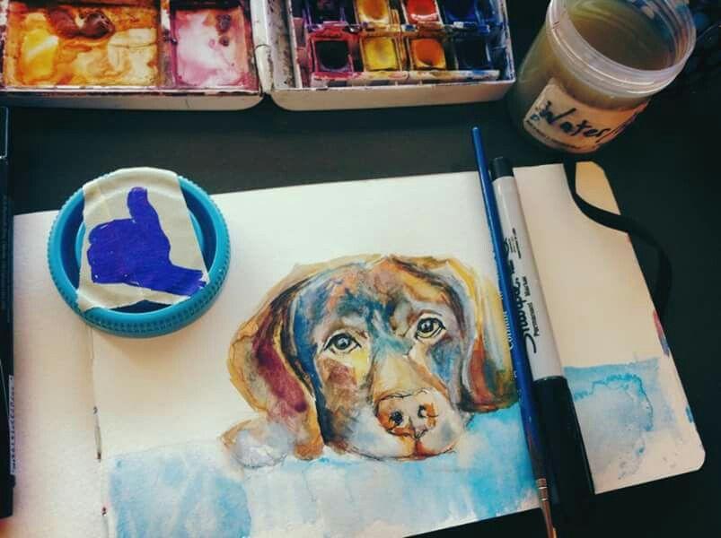 #puppy #moleskine #illustration #watercolor #art
