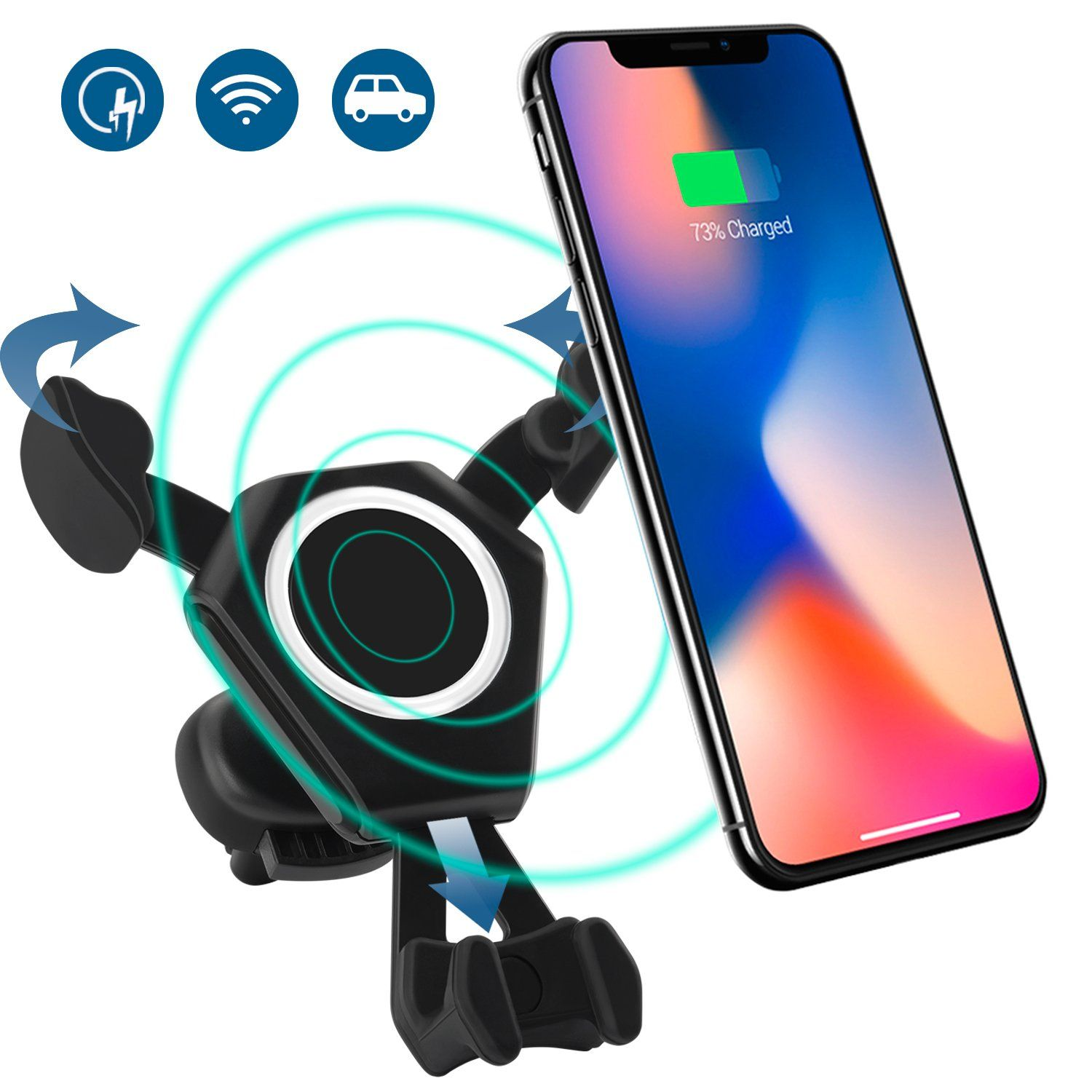 Universal Bike Phone Mount Bike Tie Pro 2 Series Black Upgraded Compatibility with Face ID and Large Smartphones Bicycle Stem Handlebar Cell Phone Holder for iPhone 11 Pro Max XS XR 8 7 6 Plus