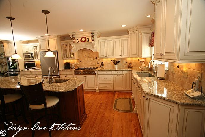Traditionl Staggered Height Cabinets Brick Njdesign Line Awesome Design Line Kitchens Review