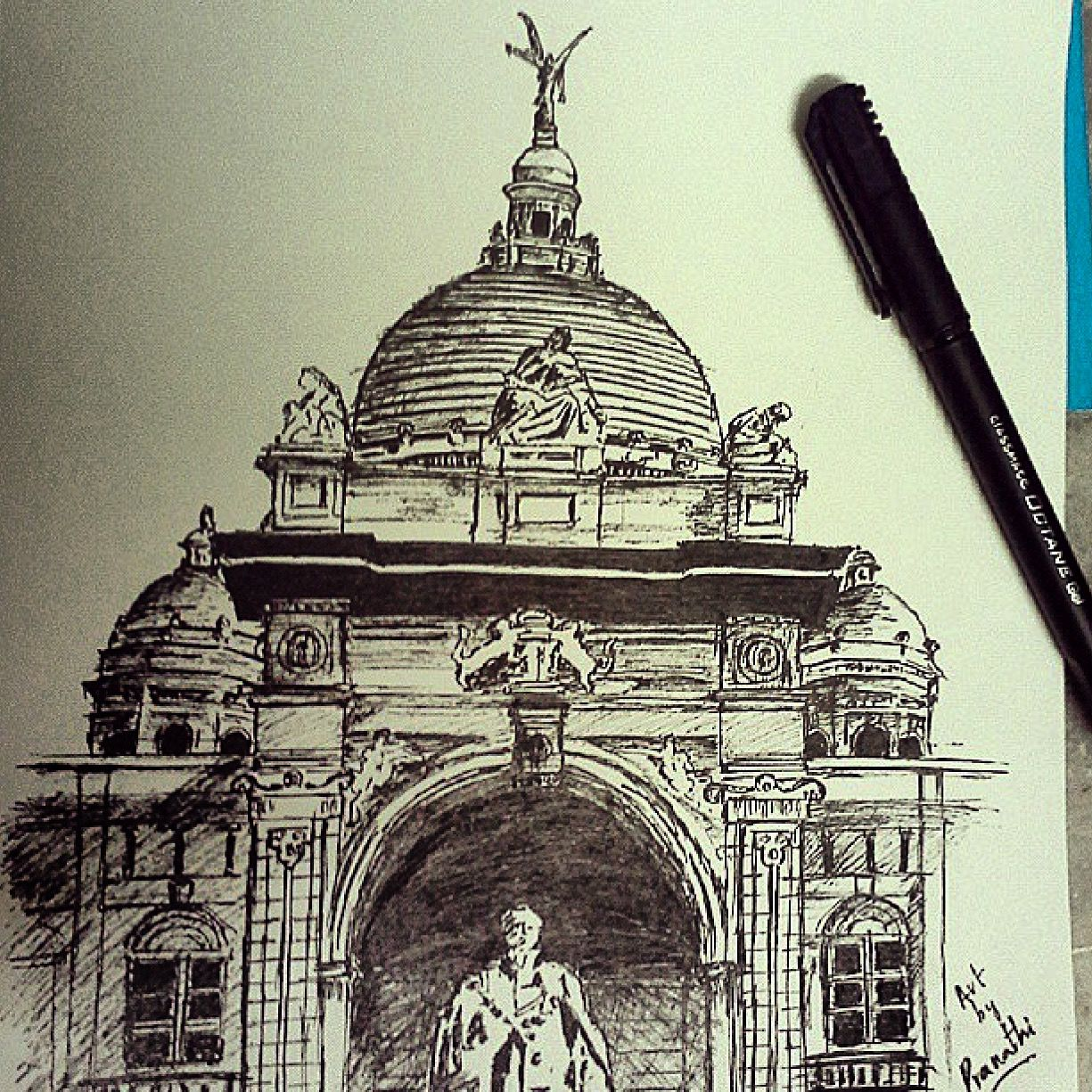 Victoriamemorial kolkata sketch sketching