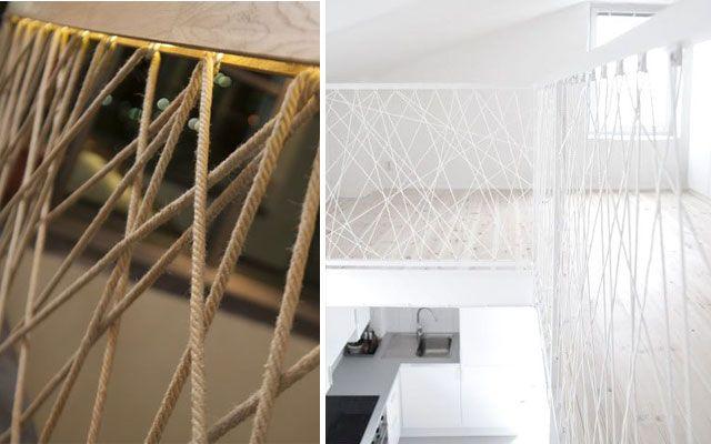 Pasamanos modernos para escaleras de dise o decohomm - Pasamanos de cuerda ...
