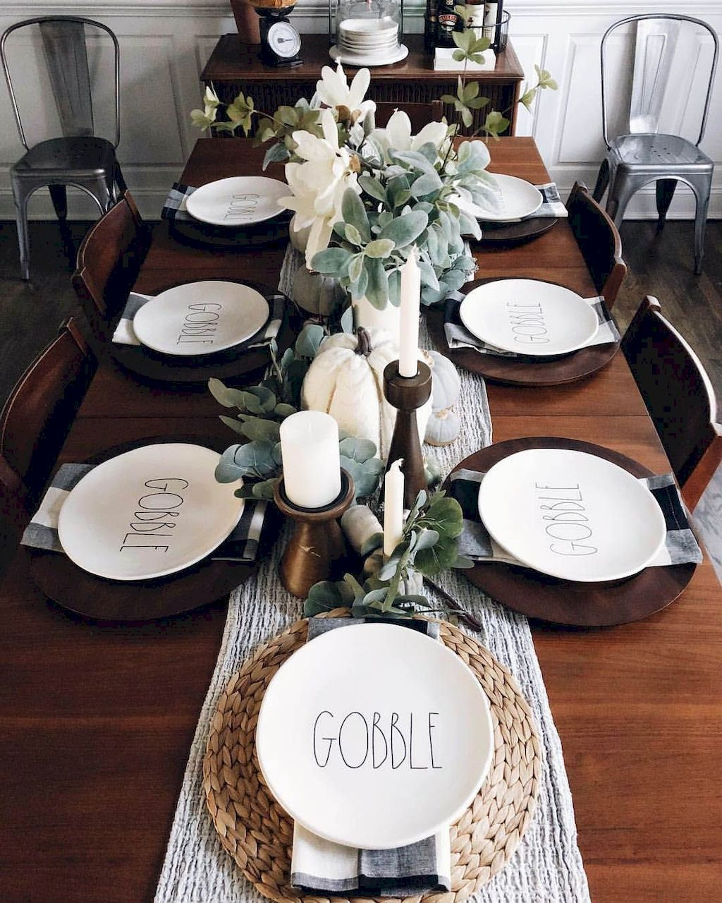 Adorable Dining Room Sets Decoration Ideas Farmhouse Dining Rooms Decor Fall Dining Room Dinner Table Decor